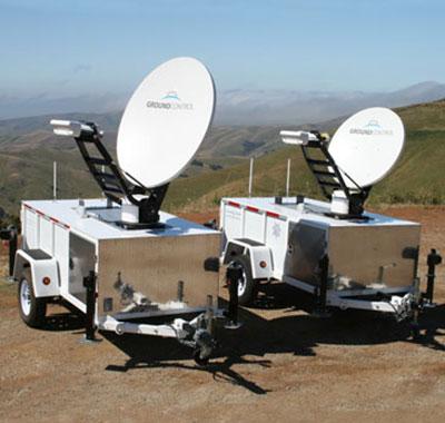 Toughsat Flyaway mounted on trailer